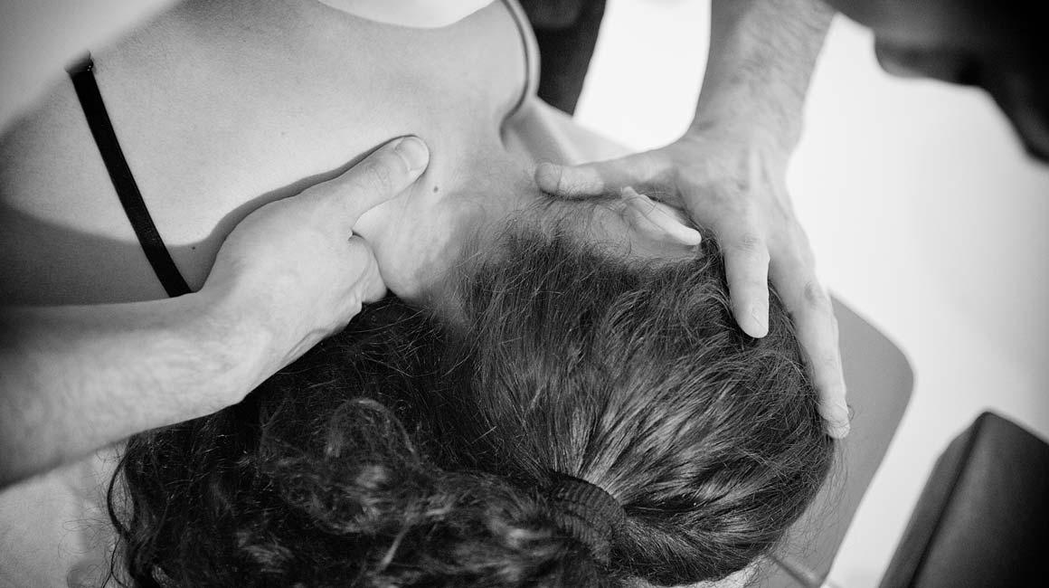 Reparto di petto di una spina dorsale di ernia